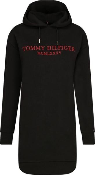 Czarna sukienka Tommy Hilfiger mini z długim rękawem