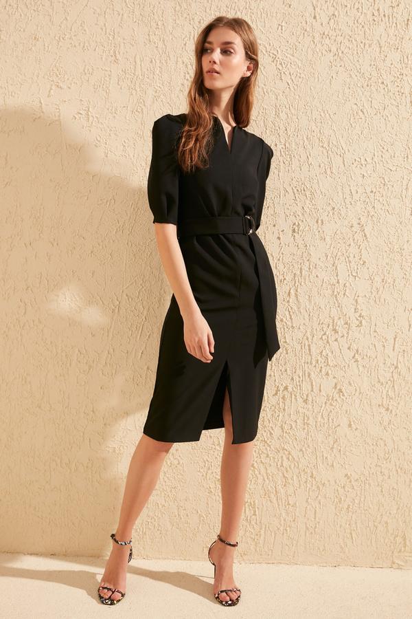Czarna sukienka Trendyol midi