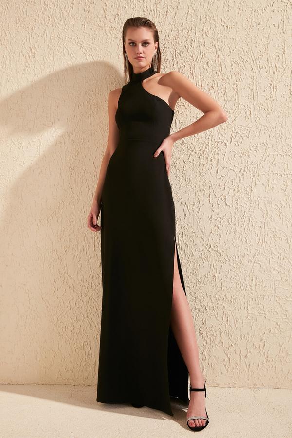 Czarna sukienka Trendyol prosta maxi