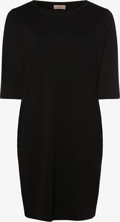 Czarna sukienka Triangle ołówkowa z dżerseju