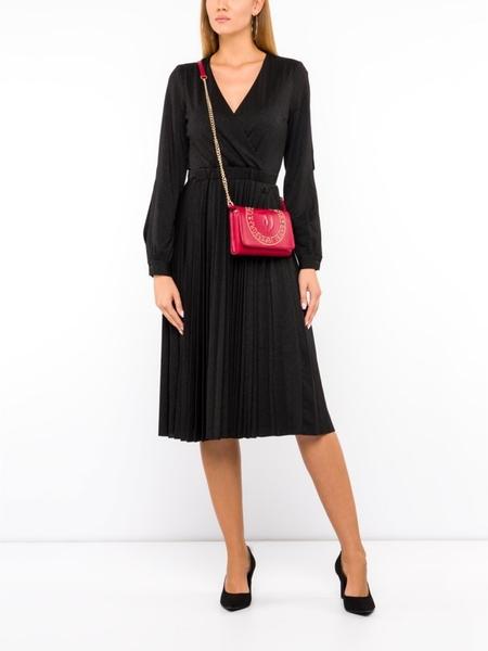Czarna sukienka Trussardi Jeans z dekoltem w kształcie litery v