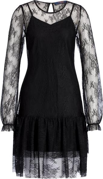 Czarna sukienka Trussardi Jeans z okrągłym dekoltem