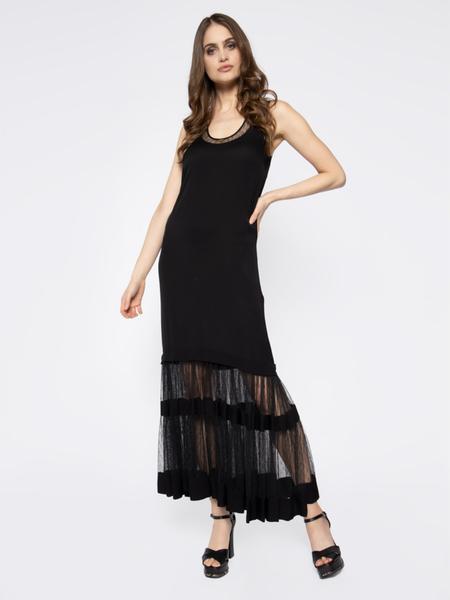 Czarna sukienka Twinset maxi