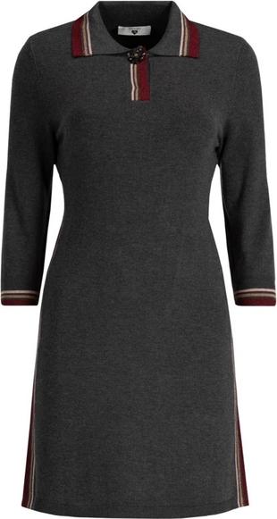 Czarna sukienka Twinset w stylu casual z kołnierzykiem mini