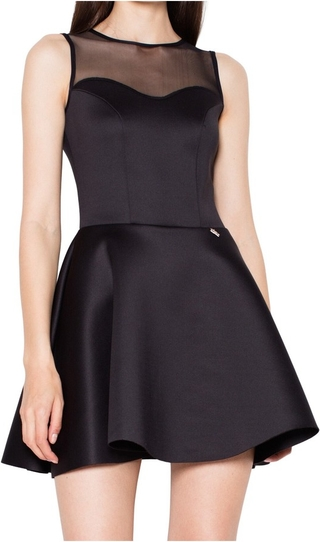 Czarna sukienka Venaton bez rękawów mini