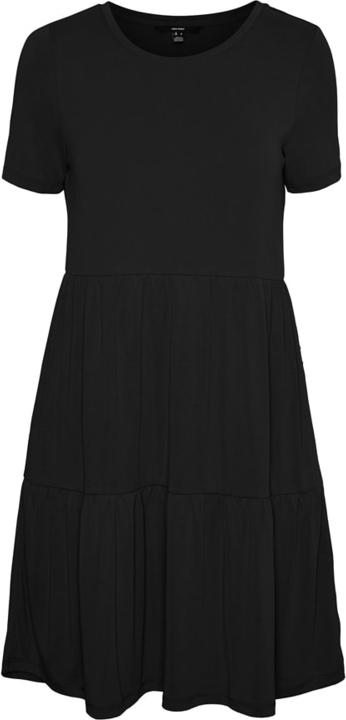 Czarna sukienka Vero Moda mini w stylu casual z krótkim rękawem