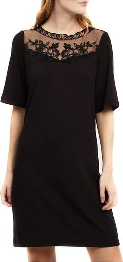 Czarna sukienka Vila mini z krótkim rękawem