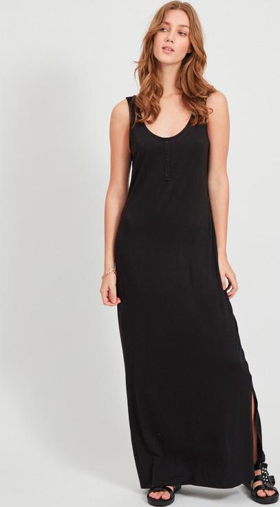 Czarna sukienka Vila w stylu casual na ramiączkach maxi