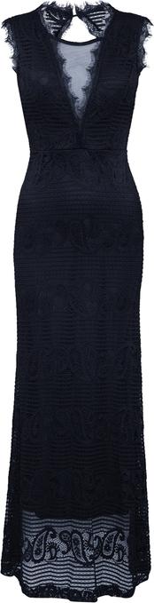 Czarna sukienka WAL G. prosta bez rękawów