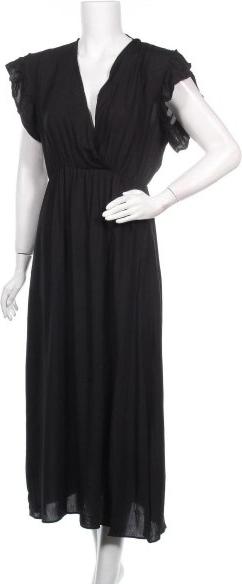 Czarna sukienka What&ver z dekoltem w kształcie litery v