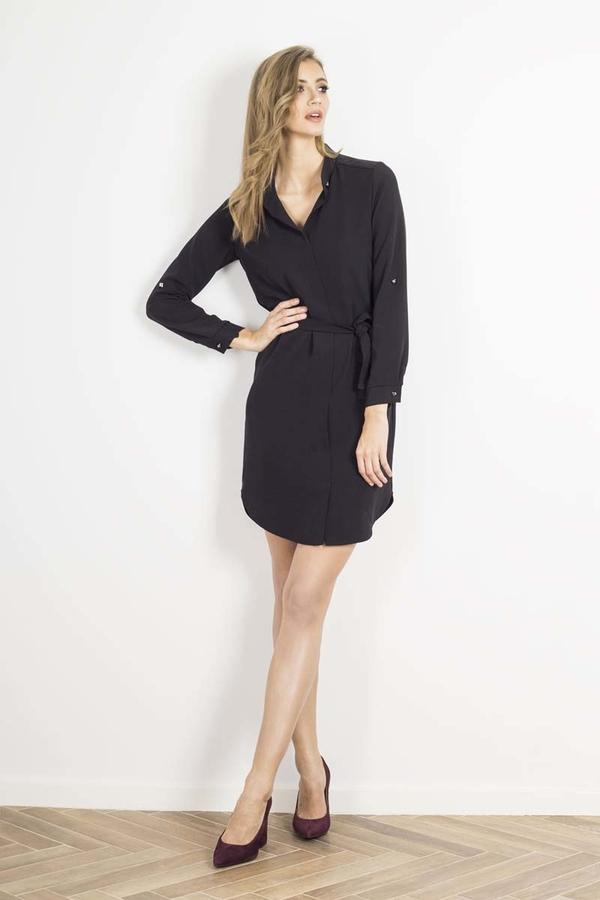 Czarna sukienka Wow Point w stylu casual mini