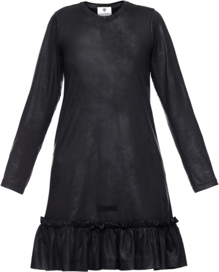 Czarna sukienka Yuliya Babich z tkaniny z okrągłym dekoltem