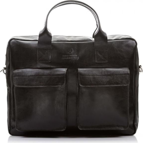 Czarna torba Paolo Peruzzi ze skóry