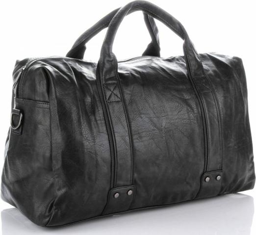 Czarna torba podróżna Bee Bag w stylu glamour