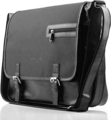 Czarna torba Solier ze skóry ekologicznej