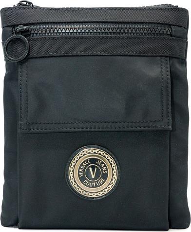 Czarna torba Versace Jeans ze skóry