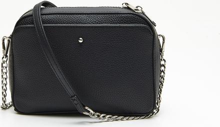 Czarna torebka Cropp mała na ramię w stylu glamour