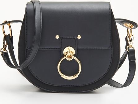Czarna torebka Cropp średnia matowa