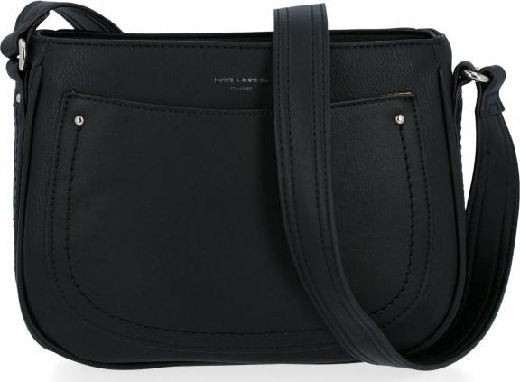 Czarna torebka David Jones w stylu glamour lakierowana ze skóry ekologicznej