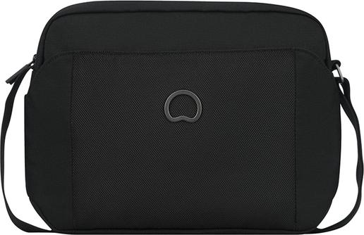 Czarna torebka Delsey na ramię średnia w stylu glamour