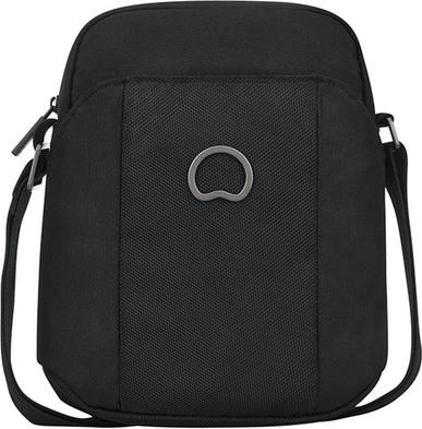 Czarna torebka Delsey na ramię w stylu glamour średnia