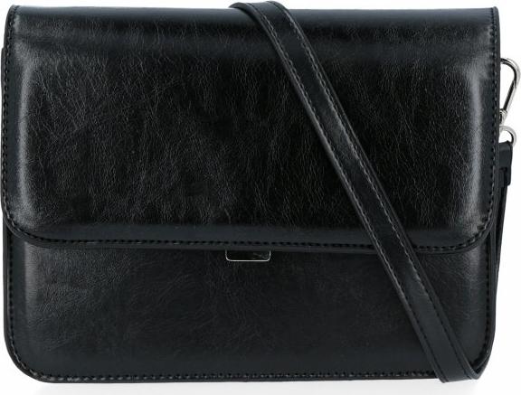Czarna torebka Diana&Co w stylu glamour na ramię
