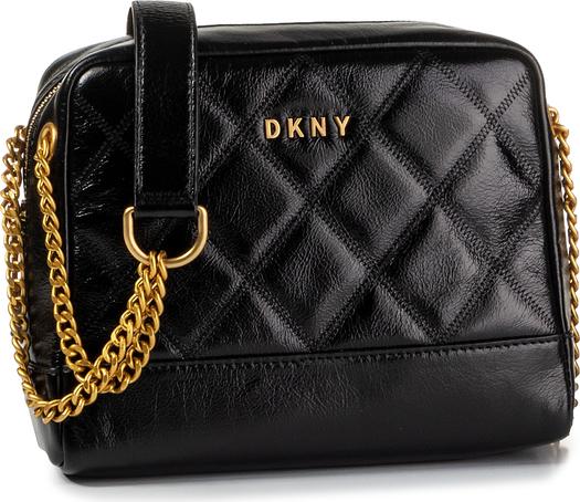Czarna torebka DKNY średnia w stylu casual