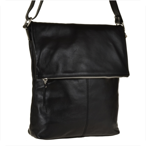 Czarna torebka genuine leather