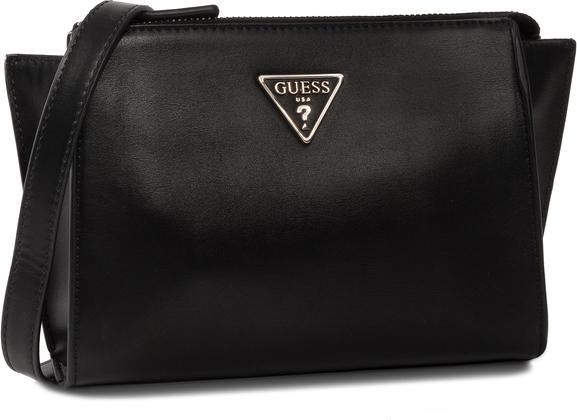 Czarna torebka Guess matowa na ramię