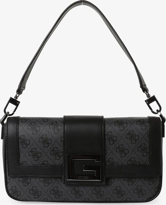 Czarna torebka Guess na ramię średnia matowa