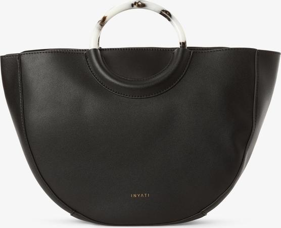 Czarna torebka Inyati matowa do ręki w stylu casual