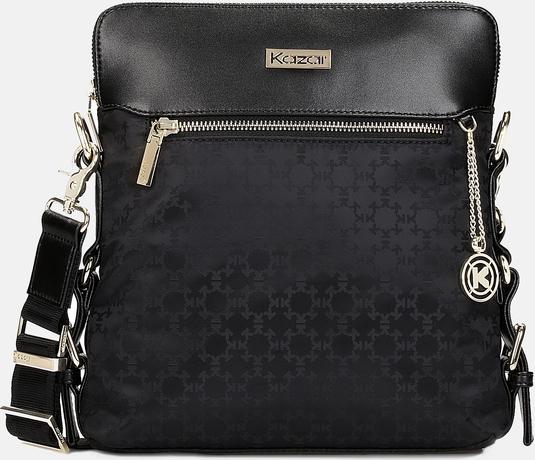 Czarna torebka Kazar z tkaniny w stylu glamour