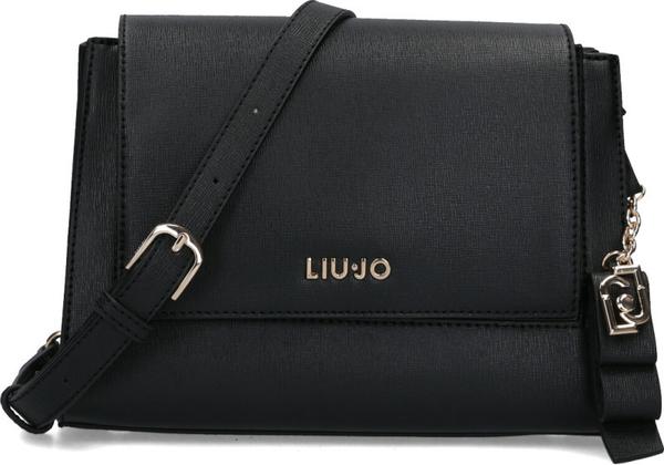 Czarna torebka Liu-Jo matowa średnia na ramię