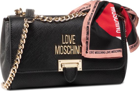 Czarna torebka Love Moschino mała na ramię zdobiona