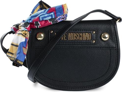 Czarna torebka Love Moschino ze skóry ekologicznej