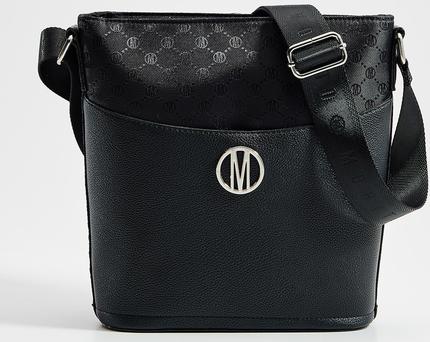 Czarna torebka Mohito średnia lakierowana