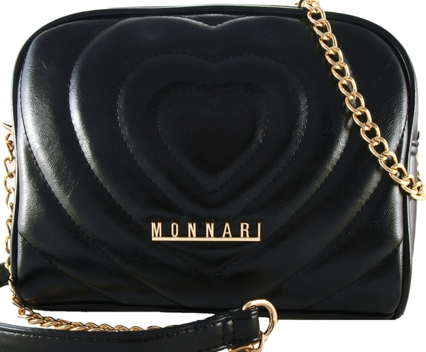 Czarna torebka Monnari matowa średnia na ramię