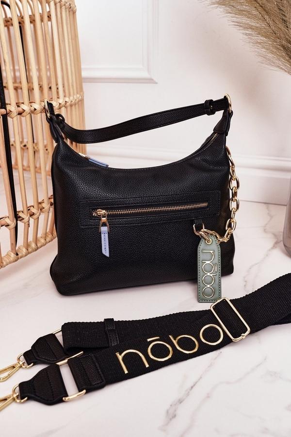 Czarna torebka NOBO na ramię ze skóry ekologicznej mała