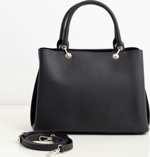 Czarna torebka Promese lakierowana ze skóry ekologicznej na ramię