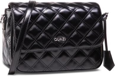 Czarna torebka Quazi na ramię lakierowana średnia