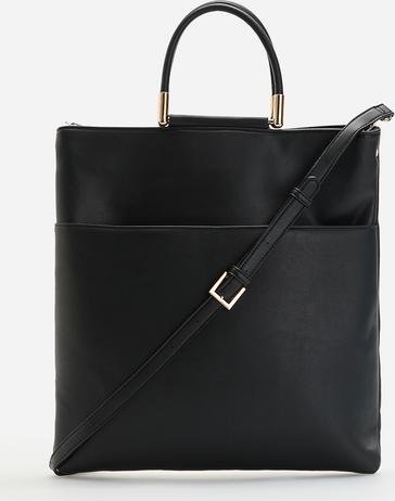 Czarna torebka Reserved lakierowana duża