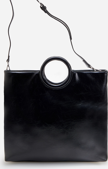 Czarna torebka Reserved matowa