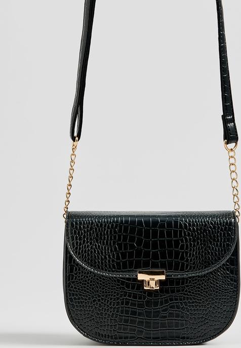 Czarna torebka Sinsay średnia na ramię w stylu casual
