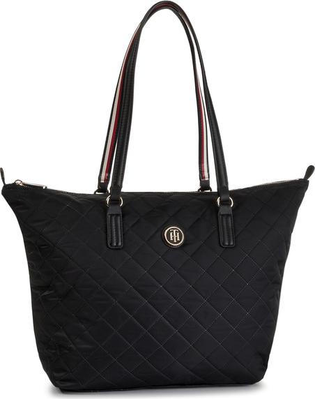 Czarna torebka Tommy Hilfiger duża w stylu casual