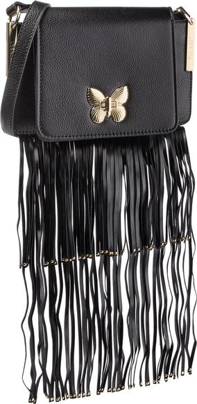 Czarna torebka Twinset z frędzlami w młodzieżowym stylu