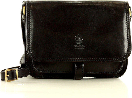 Czarna torebka Vera Pelle na ramię
