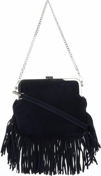 Czarna torebka VITTORIA GOTTI z frędzlami średnia