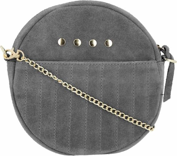 Czarna torebka VITTORIA GOTTI z zamszu zamszowa w stylu retro