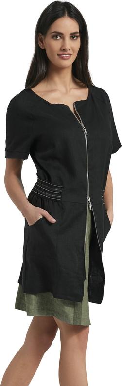 Czarna tunika Ennywear z lnu w sportowym stylu