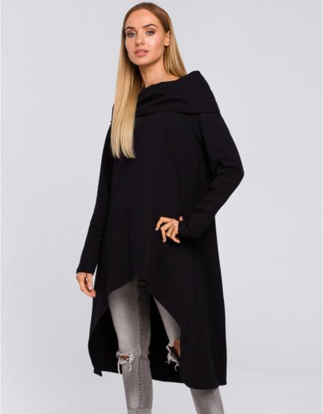 Czarna tunika MOE z długim rękawem